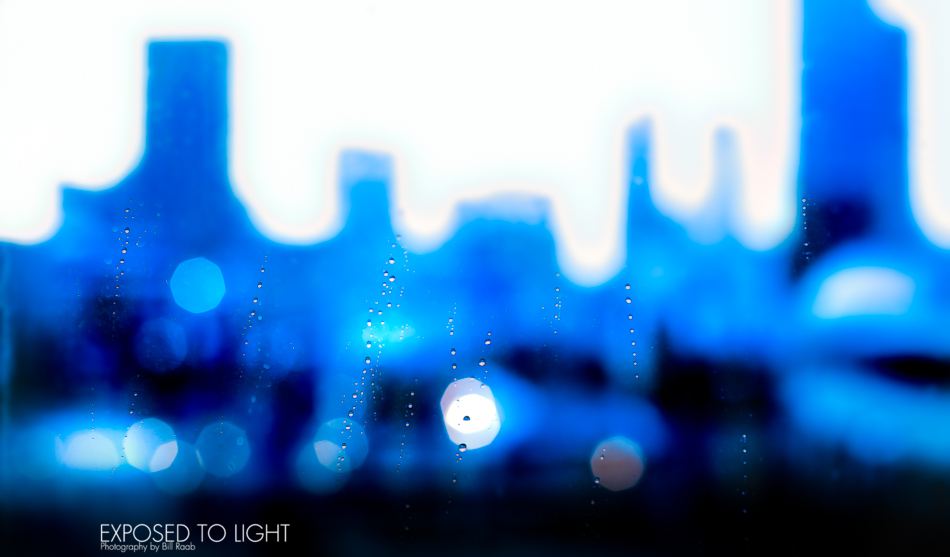Atlanta Skyline Through The Rain